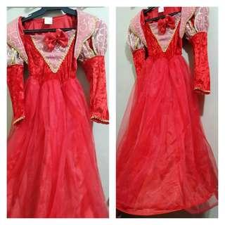 Girl's Red Queen Costume