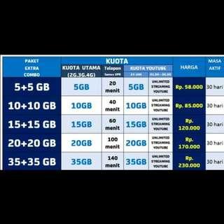 Paket Isi Ulang Internet XL Xtra Combo