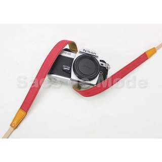 Leather Denim Shoulder Neck Strap DSLR Mirrorless Canon Sony Fujifilm