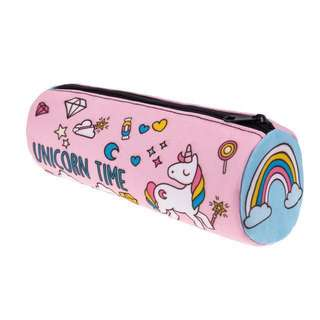 Rainbow 🦄 Unicorn Pink School Pencil Case Box birthday present gift for girl young kid children teenager bag backpack