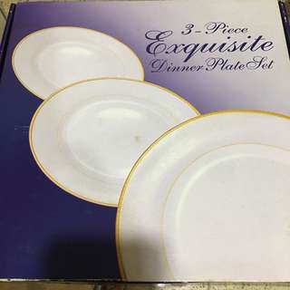 Amway 3 piece exquisite dinner plates