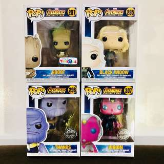 Avengers Infinity War Pop! Exclusives
