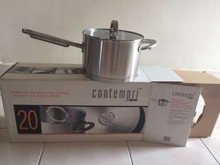 Stainless Steel Saucepan with cover and handle 20cm/ 3.8l
