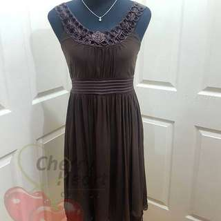 Laced Brown Dress