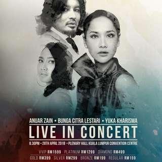 Yuka Kharisma, Bunga Citra Lestari & Anuar Zain Live in Concert
