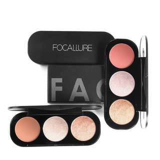 Focallure Trio Blusher & Highlighter