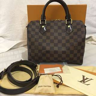 Authentic LV Speedy Bando pm size With complete box dustbag and set lock Mint condition