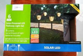 SOLAR PATHWAY LED LIGHTS (6 PACK)