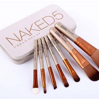 make up brush / kuas make up naked 5 urban isi 7 set