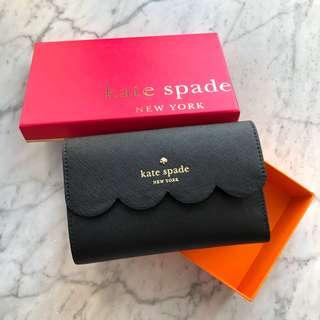 Kate Spade Wallet classic黑色花邊款 少見款