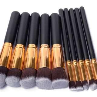 Makeup Brush Set 10 Kabuki kuas Rias Bulu Halus