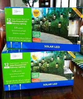SOLAR PATHWAY LED LIGHTS (12 PACK)