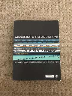 Managing and organisations