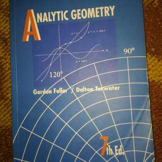Analytic Geometry 7th Ed. by Gordon Fuller and  Dalton Tarwater