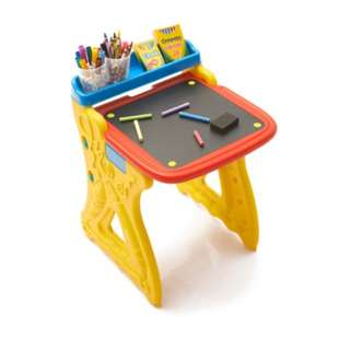 Kids table and easel