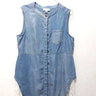Denim Outer with Furing