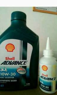Oli shell u/matic+gardan 10w-30