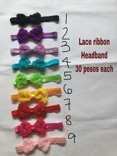 Lace ribbon headband for babies kids teens