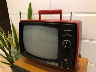 Antique old TV