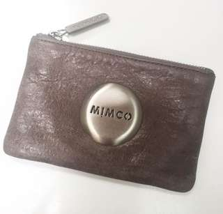 Mimco small pouch (elephant grey) 100% Authentic