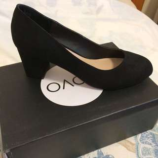 Brand New Seude Black Heels