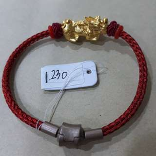Gelang PDR emas 24k Qilin