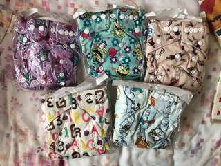 Reusable cloth diapers