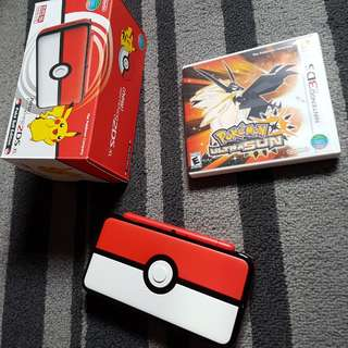 New nintendo 2ds XL Pokeball edition with game