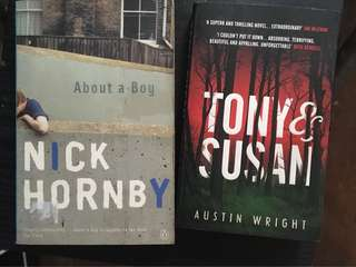 BUNDLE: Tony and Susan (Nocturnal Animals) by Austin Wright and About a Boy by Nick Hornby