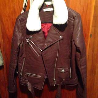 Marron Leather Jacket from OChirly