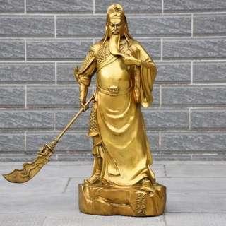 纯铜关公铜像55cm武财神