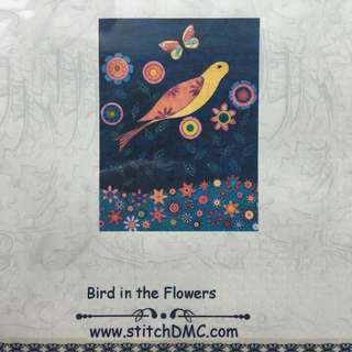 DMC cross stitch kit: Bird in flowers