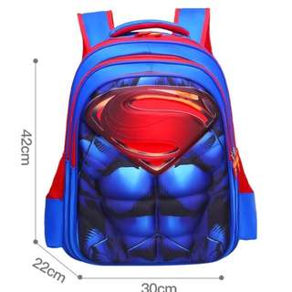 Brand New 3D Superman School Bag For SALE! SGD39! With FREE GIFT! Last Pcs!
