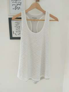 White tank top active wear