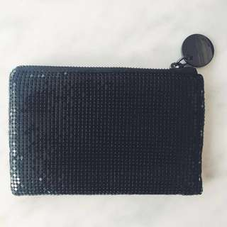 Witchery Black Sequinned Coin Purse