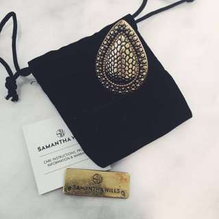 Samantha Wills Gold Reptile Bardot Ring