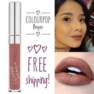 CLEARANCE SALE!💯🇺🇸COLOURPOP Beeper Ultra Matte Liquid Lipstick