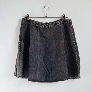 Forever 21 Gray Skater Skirt