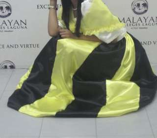 Black & Yellow Filipiniana National Costume Set