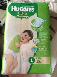L Huggies diapers