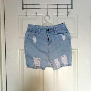 Free SF: Denim Skirt