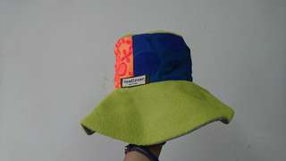 🚚 Headlover  螢光綠橘拼接漁夫帽