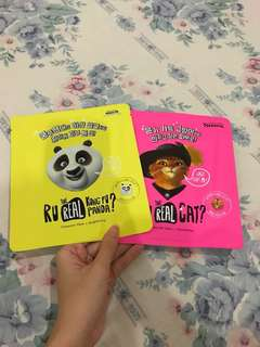 Set 2pcs Korea Character Face Mask