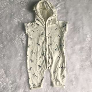 Hooded onesie