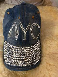 NYC jeans cap