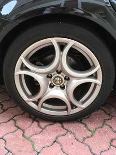 """Original Alfa Romeo 18"""" plus P Zero Tyres"""