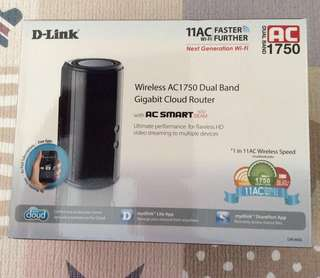 Dlink wireless AC1750 dual band gigabit cloud router