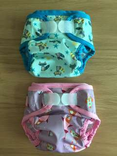 Cloth Diaper Cover - Sweet Pea NB cover - Lucy & Bandit