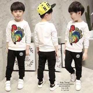 Kids terno size : L XL 3-7 yrs old