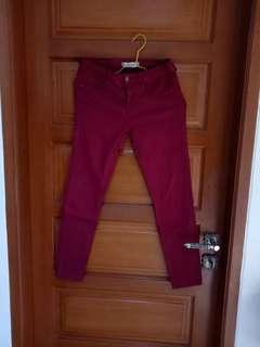 Zara maroon jeans